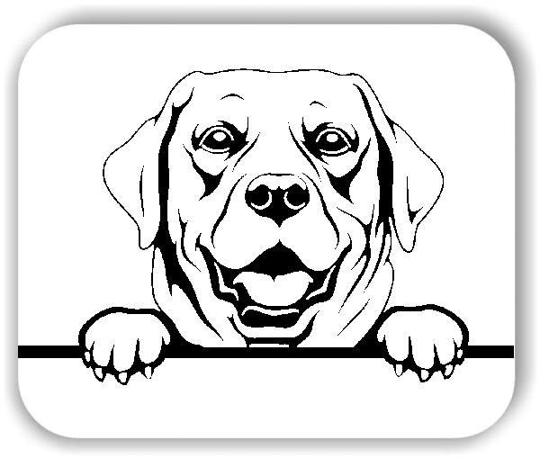 Wandtattoos Tiere - Hunde - Labrador Retriever Variante 3 - ohne Rassename