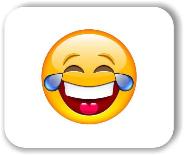 Strichgesicht - Emoticon - mit Freudentränen