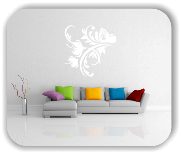 Ornamente China Floral - Wandtattoo - ab 50x50 cm - Motiv 3162