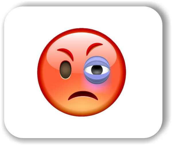 Strichgesicht - Emoticon - Wütendes Gesicht