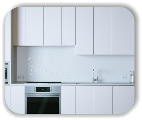 Wandtattoos Spruch Küche - Verliebte Tassen und Kanne