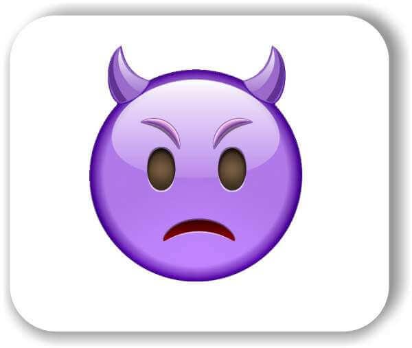 Strichgesicht - Emoticon - Trauriger Kobold