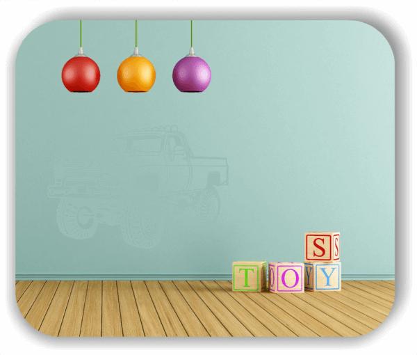 Wandtattoos Fahrzeuge - ab 50x34 cm - Amerikanischer Pick Up