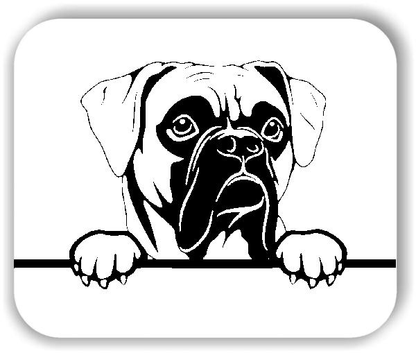 Wandtattoos Tiere - Hunde - Boxer Variante 3 - ohne Rassename
