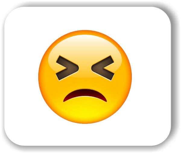 Strichgesicht - Emoticon - Leidendes Gesicht
