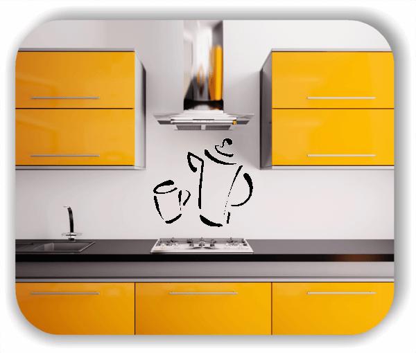 Wandtattoos Spruch Küche - witzige Kaffeekanne