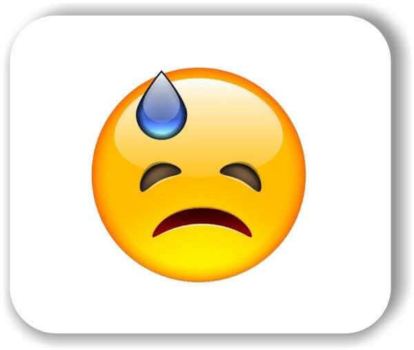Strichgesicht - Emoticon - Sorgenvolles Gesicht