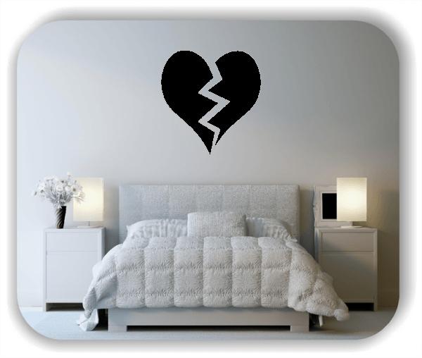 Wandtattoos Liebe - Gebrochenes Herz