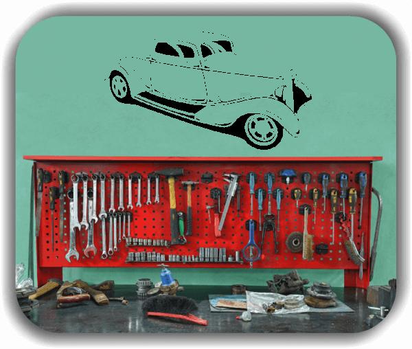 Wandtattoos Fahrzeuge - ab 50x28 cm - Hot Rod