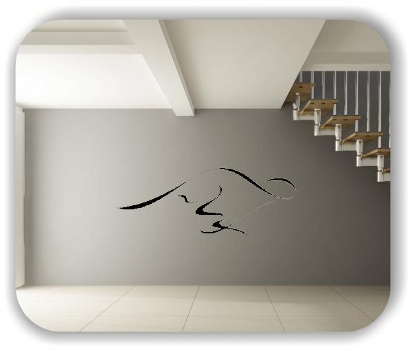 Wandtattoos Tiere - ab 50x19 cm - Kängeruh