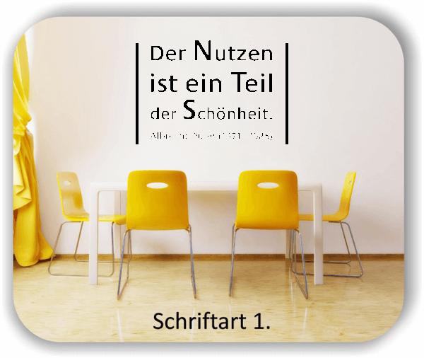 Wandtattoos - Sprüche & Zitate - Der Nutzen ist ein Teil der...