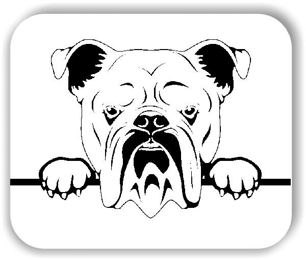 Wandtattoos Tiere - Hunde - Englische Bulldogge - ohne Rassename