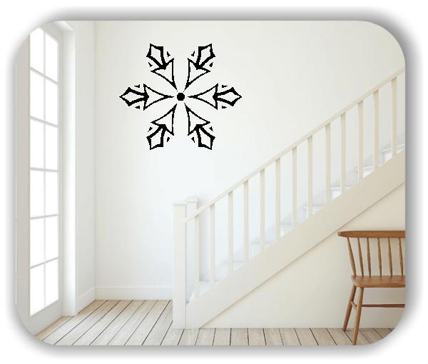 Snowflakes Wandtattoos - Schneeflocke - ab 50x43 cm - Motiv 2583