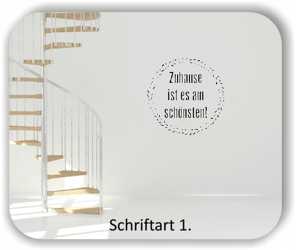 Wandtattoos – Sprüche & Zitate – Zuhause ist es am schönsten