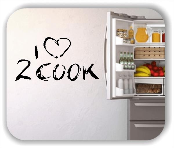 Wandtattoos Spruch Küche - I Love 2 Cook