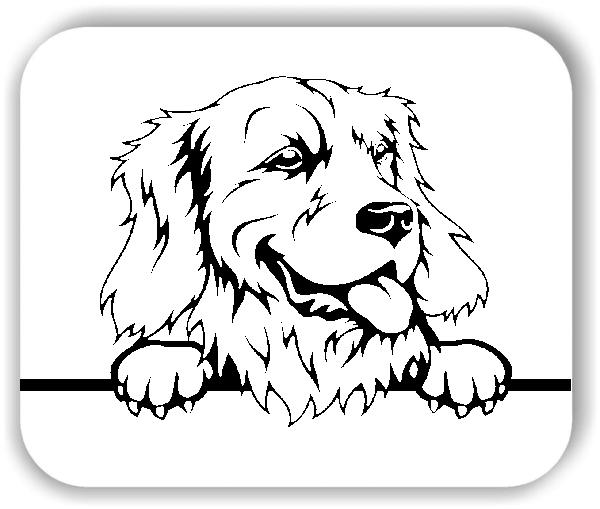 Wandtattoos Tiere - Hunde - Golden Retriever Variante 3 - ohne Rassename