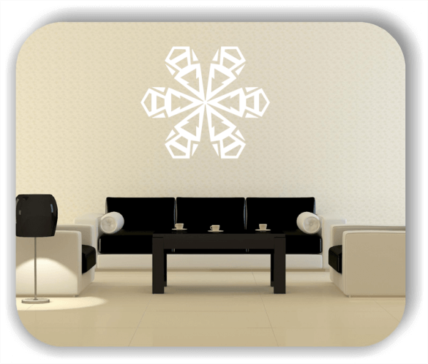 Snowflakes Wandtattoos - Schneeflocke - ab 50x43 cm - Motiv 2569