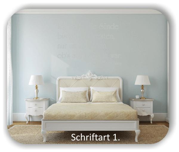 Wandtattoos - Sprüche & Zitate - Ich treib' die Sünde bis zum...