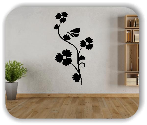Ornamente China Floral - Wandtattoo - ab 50x97,5 cm - Motiv 3187