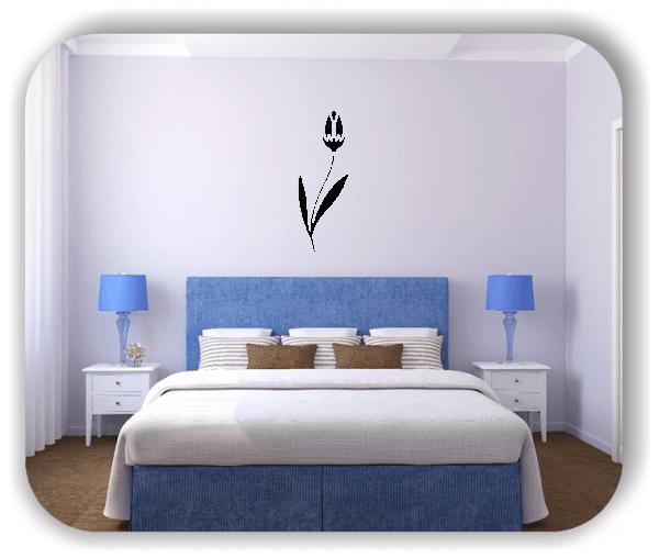 Schnittblumen Wandtattoos - ab 18x50 cm - Motiv 9000