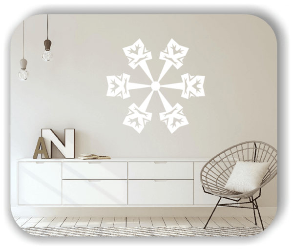 Snowflakes Wandtattoos - Schneeflocke - ab 50x48 cm - Motiv 2500