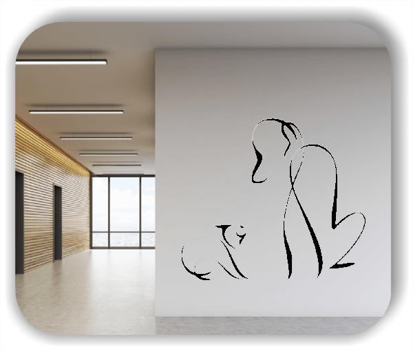 Wandtattoos Tiere - ab 50x42 cm - Hund & Katze