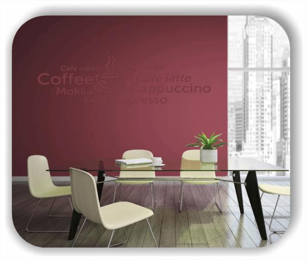 Wandtattoos Spruch Küche - Kaffeesorten