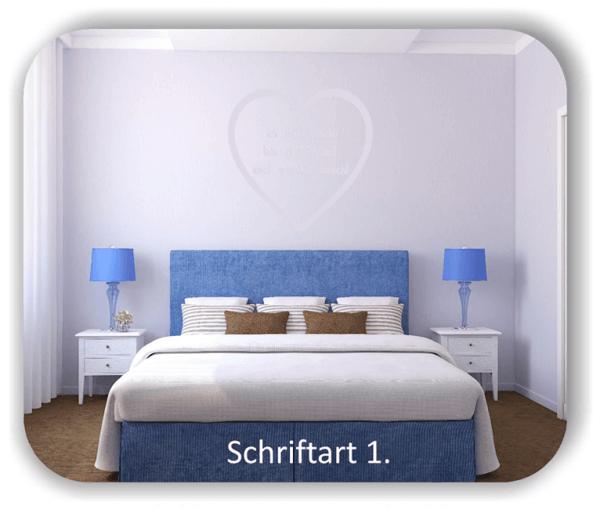 Wandtattoos – Sprüche & Zitate – Ich liebe Dich bis zum...