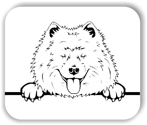 Wandtattoos Tiere - Hunde - Samoyed - ohne Rassename