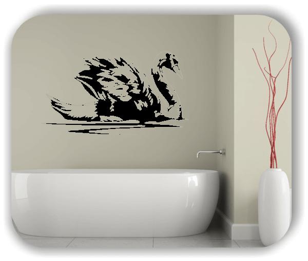 Wandtattoos Tiere - ab 50x28 cm - Schwan