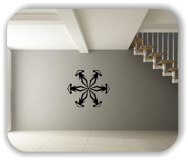 Snowflakes Wandtattoos - Schneeflocke - ab 50x43 cm - Motiv 2584