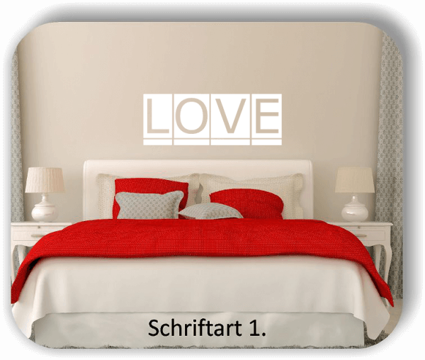 Wandtattoos - LOVE