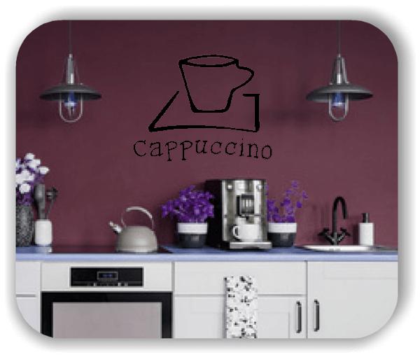 Wandtattoos Spruch Küche - Cappuccino