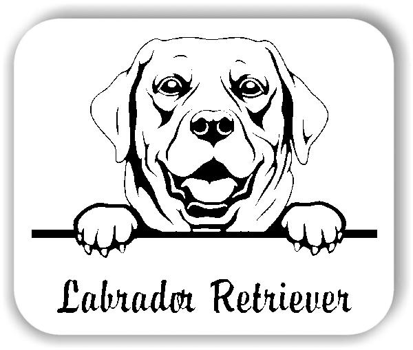 Wandtattoos Tiere - Hunde - Labrador Retriever Variante 1