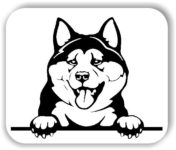 Wandtattoos Tiere - Hunde - Akita - ohne Rassename