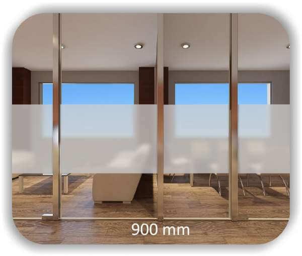 Milchige Sichtschutzfolie / Durchlaufschutzfolie - Höhe: 90 cm - Streifen