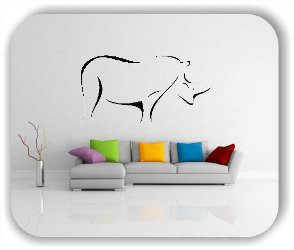 Wandtattoos Tiere - ab 50x25 cm - Nashorn
