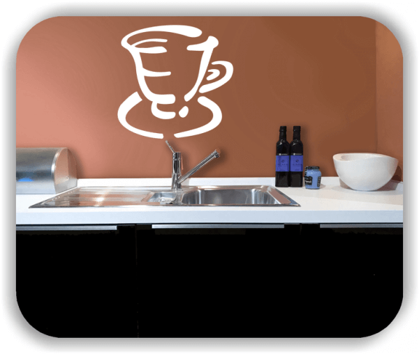Wandtattoos Spruch Küche - Kaffeetasse