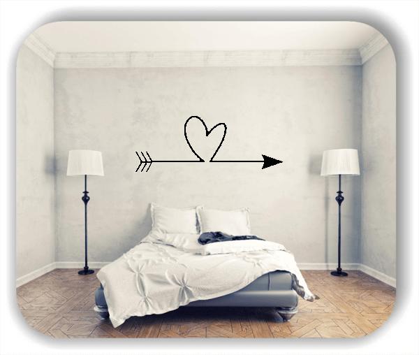 Wandtattoos Liebe - Pfeil mit Herz