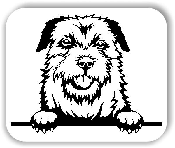 Wandtattoos Tiere - Hunde - Border Terrier - ohne Rassename