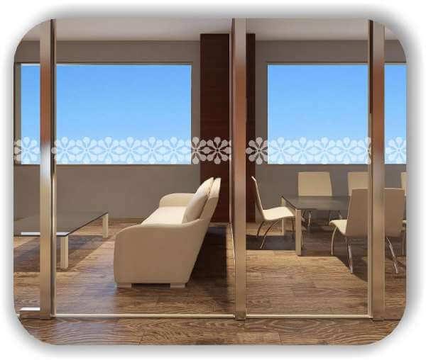 Sichtschutzfolie / Durchlaufschutzfolie - Zuschnitt 20 cm Höhe - Blumen Ornamente