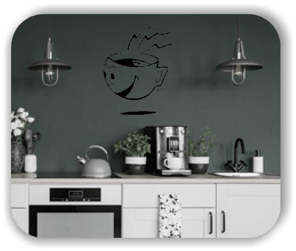 Wandtattoos Spruch Küche - Lustige Kaffeetasse