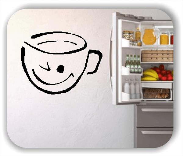 Wandtattoos Spruch Küche - Zwinkernde Tasse