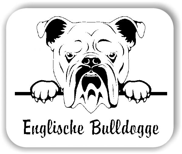 Wandtattoos Tiere - Hunde - Englische Bulldogge