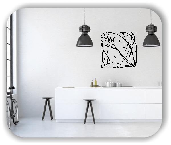 Wandtattoos Florale Silhouetten - Motiv 02