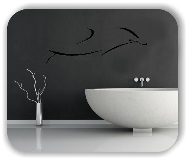Wandtattoos Tiere - ab 50x19 cm - Delfin