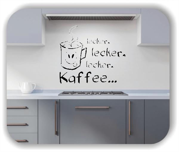 Wandtattoos Spruch Küche - Freche Tasse mit lecker Kaffee