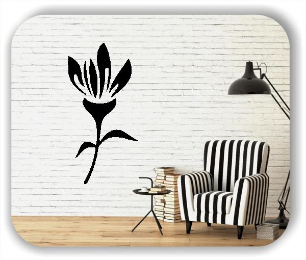 Schnittblumen Wandtattoos - ab 25x50 cm - Motiv 9014