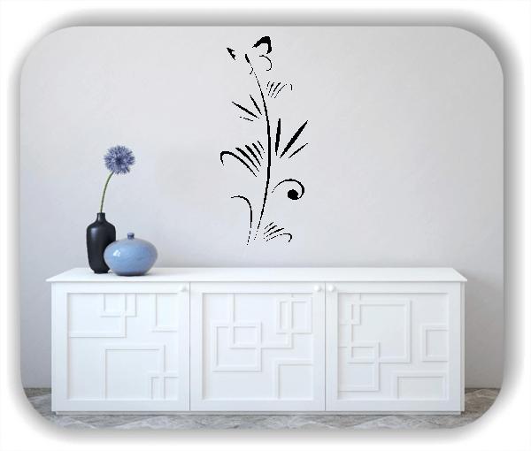 Florale Wandtattoos Japan Motiv - ab 25x60 cm - Motiv 3266