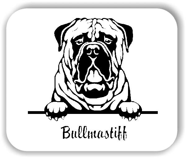 Wandtattoos Tiere - Hunde - Bullmastiff